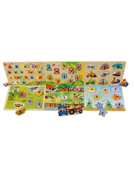 Colorful Wooden Puzzle by Smyths