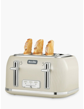 Breville Flow Collection 4 Slice Toaster, Cream by Breville
