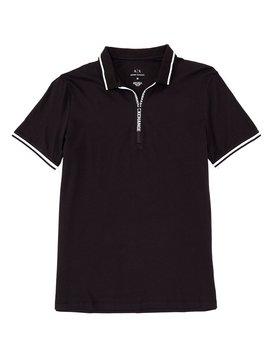 Quarter Zip Short Sleeve Polo Shirt by Armani Exchange