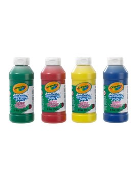 Crayola 4 Pack Washable Paint by Smyths