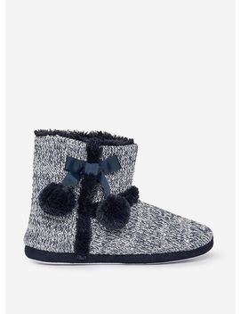 Navy Sequin Knit Bootie by Dorothy Perkins