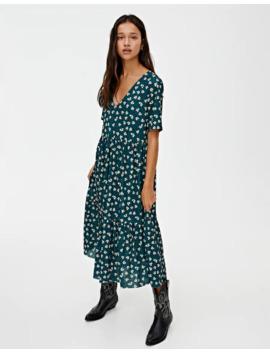 Fließendes Kleid Mit Print by Pull & Bear