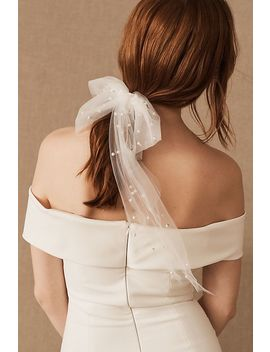Parell Tulle Bow Barrette by Anthropologie