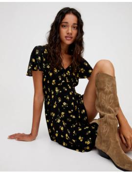 Bedrucktes Minikleid Mit Elastischer Taille by Pull & Bear