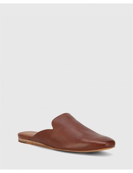 Amita Cedar Leather Flat Mule by Wittner