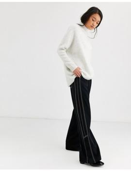 Selected Femme   Pull à Col Montant Et Fente Sur Le Côté by Selected