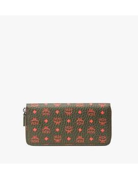 Zip Around Wallet In Visetos by Mcm