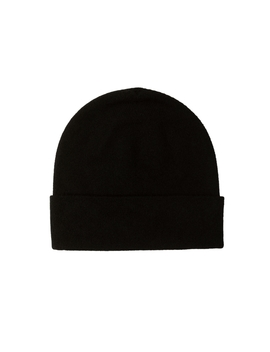 Black Double Layer Cashmere Hat by Johnstons Of Elgin