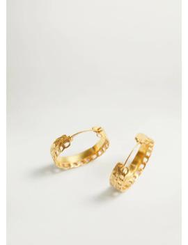 Σκουλαρίκια κρίκοι αλυσίδα by Mango