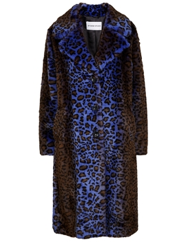 Fanny Leopard Print Faux Fur Coat by Stand Studio