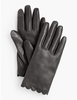 Scallop Leather Touch Glove Scallop Leather Touch Glove by Talbots