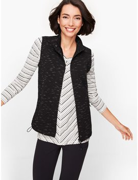 Jacquard Fleece Lined Vest by Talbots