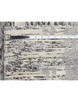 """Hand Knotted Grey Modern & Contemporary With Wool Oriental Rug (8'1"""" X 10')   8'1"""" X 10' by Generic"""