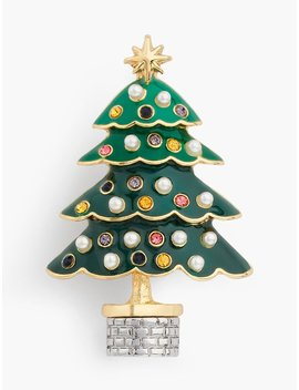Christmas Tree Brooch by Talbots