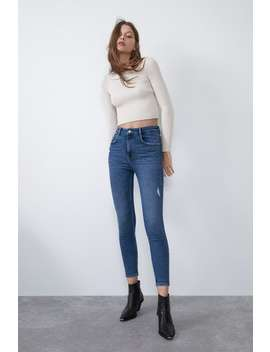 Hi Rise Skinny Vintage Ripped Jeans by Zara