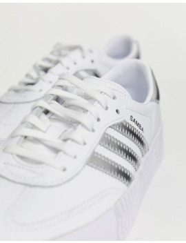 Adidas Originals   Samba Rose   Baskets à Effet  Irisé   Blanc by Adidas