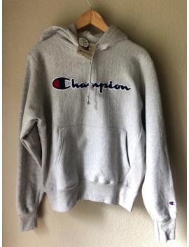 Grey Reverse Weave Hoodie by Champion  ×