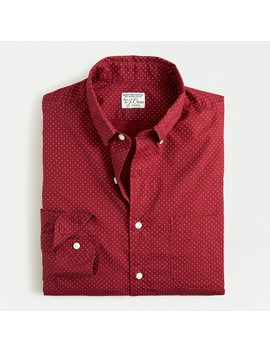 Slim Stretch Secret Wash Shirt In Small Dot Organic Cotton by J.Crew