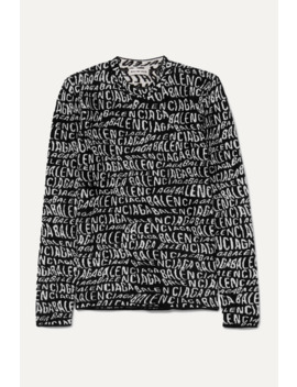 Intarsia Knit Sweater by Balenciaga