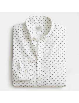 Slim Stretch Secret Wash Shirt In Floral Print Organic Cotton by J.Crew