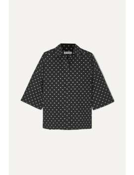 Vareuse Oversized Printed Cotton Poplin Shirt by Balenciaga