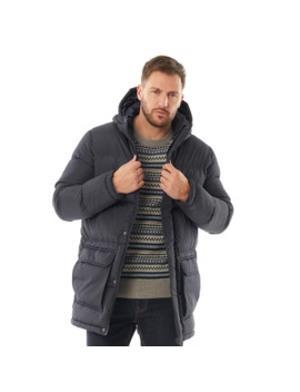 French Connection Mens Parka Row 2 Jacket Marine by French Connection
