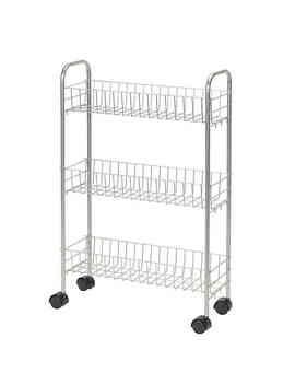 Household Essentials® 3 Shelf Slimline Utility Cart In Silver by Bed Bath And Beyond
