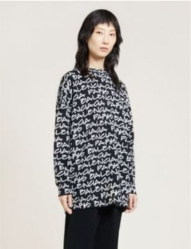 Logo Print Wool Jumper by Balenciaga