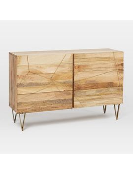 Roar + Rabbit™ Brass Geo Inlay 6 Drawer Dresser   Raw Mango by West Elm