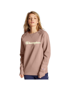 Women's Champion Powerblend Applique Boyfriend Crew by Champion