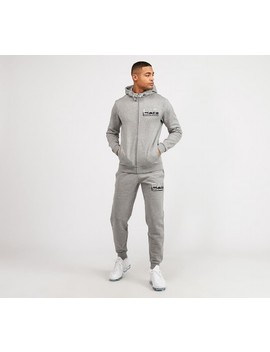 Visibility Full Zip Hooded Suit | Grey Heather by Ea7