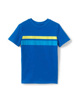 Toddler Boys Chest Stripe Slub T Shirt by Lands' End