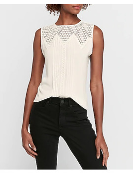 Crocheted Inset Tank by Express