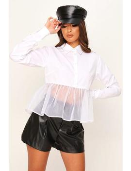 White Organza Frill Hem Shirt by I Saw It First