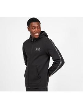 Taped Full Zip Hooded Top | Black by Ea7