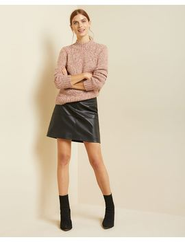 Hairy Knit Mock Neck Sweater by Rw & Co