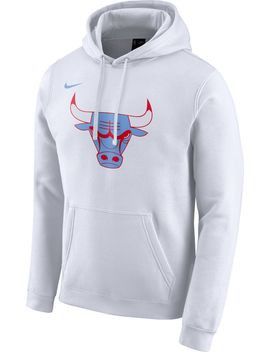 Nike Men's Chicago Bulls Dri Fit City Edition Pullover Hoodie by Nike