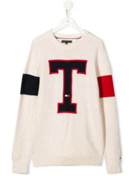 T Knit Jumper by Tommy Hilfiger Junior