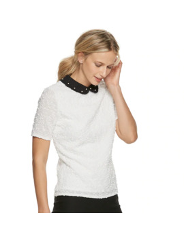 Women's Elle™ Collared Short Sleeve Top by Elle