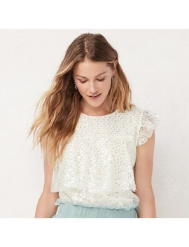 Women's Lc Lauren Conrad Tiered Sequin Top by Lc Lauren Conrad