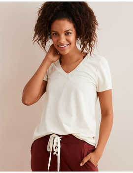 Aerie Real Soft® V Neck T Shirt by American Eagle Outfitters