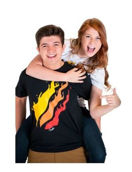 New Kids Boys Preston Playz T Shirt Fire Logo   Official Preston Playz Merch Yl by Unbranded