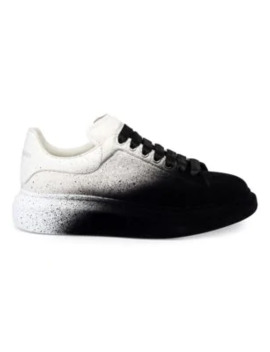 Spray Flocked Leather Platform Sneakers by Alexander Mc Queen