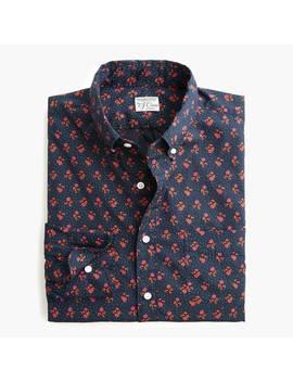 Slim Stretch Secret Wash Shirt In Navy Floral Organic Cotton by J.Crew