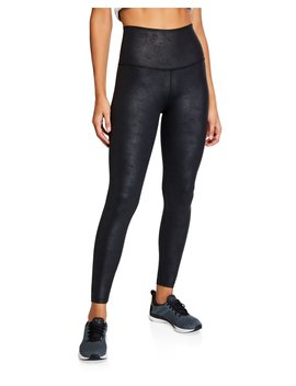 Luxe Leatherette High Waist Midi Leggings by Beyond Yoga