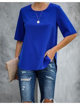 Multitask Short Sleeve Blouse   Cobalt by Vici