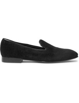 + George Cleverley Windsor Velvet Loafers by Kingsman