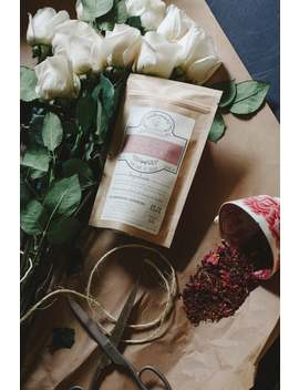 Rose City Chocolate Handcrafted Tea W/ Cocoa Nibs   Organic    Herbal   Winterwoods Tea Company Loose Leaf Blend by Etsy