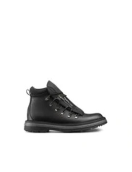 Black Calfskin & Technical Fabric Boots by Dior