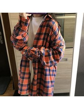 Hyaku   Oversized Plaid Shirt by Hyaku